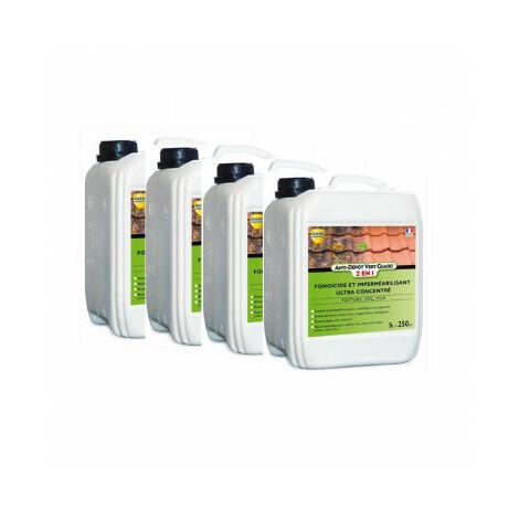 Anti Dépôt Vert Guard 2en1 - 20 L - traite 2000 m² - Nettoie et imperméabilise - anti salissure - 4x5L