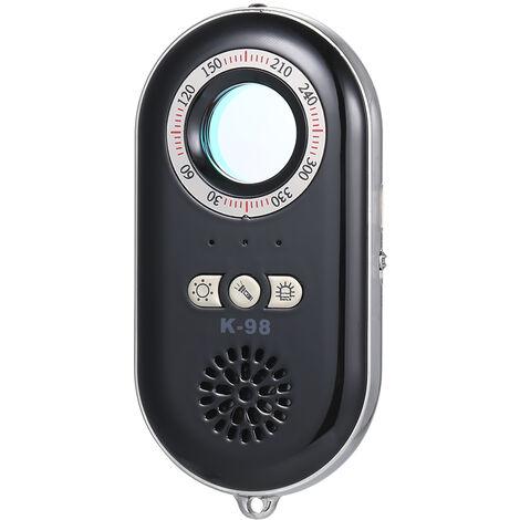 Anti-Espion Detecteur De Camera Cachee Sans Fil Rf Infrarouge 3-In-1 Portable Safesound Vibration Alerte Avec Mini Led Lampe De Poche Pour Home Hotel Voyage Securise, Or