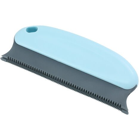 Anti-Hair Brush, Pet Comb 2 In 1 - Reusable Cleaning Brush for Dog, Cat, Clothing, Cushion, Sofa, Car, Bed (Light Blue)