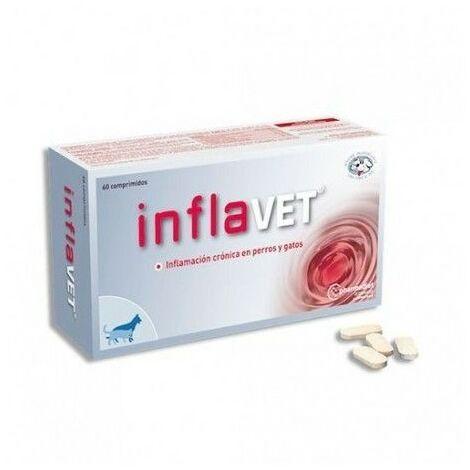 """main image of """"Anti-inflammatoire naturel INFLAVET contre l'inflammation chez les chats et les chiens 60 comprimés"""""""