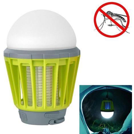 Anti insectes Répulsifs Type de choc électrique extérieur UV LED lumière efficace Mosquito Killer, IPX6 imperméable Aucun rayonn