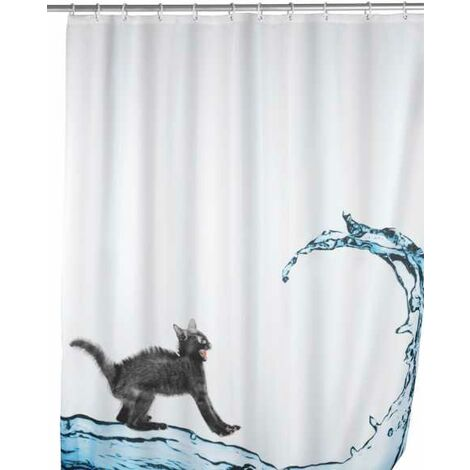 Anti-mould shower curtain Cat WENKO