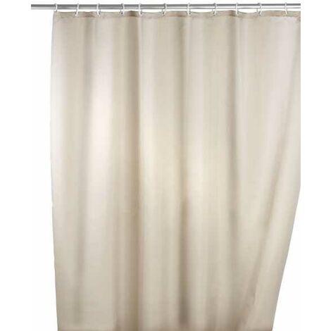 Anti-mould shower curtain single-colour Beige WENKO