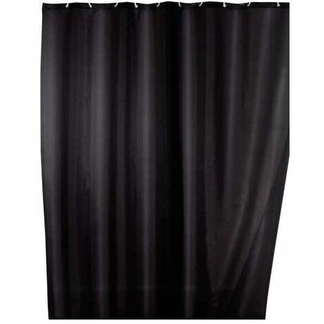 Anti-mould shower curtain single-colour Black WENKO