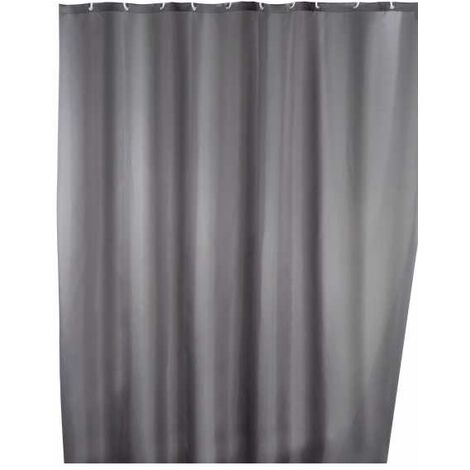 Anti-mould shower curtain single-colour Grey WENKO
