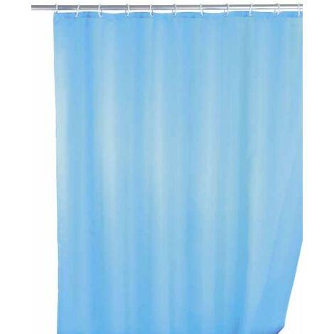 Anti-mould shower curtain single-colour Light Blue WENKO