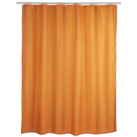 Anti-mould shower curtain single-colour Orange WENKO