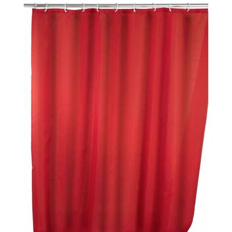 Anti-mould shower curtain single-colour Red WENKO