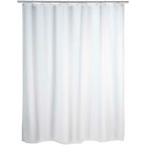 Anti-mould shower curtain single-colour White WENKO