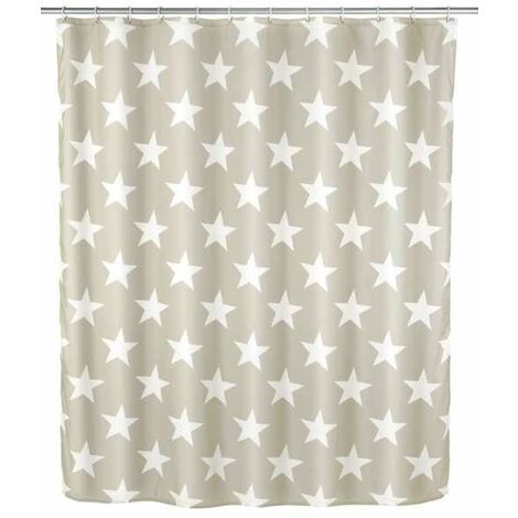 Anti-mould shower curtain Stella taupe WENKO