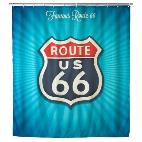 Anti-mould shower curtain Vintage Route WENKO