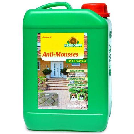Anti mousse total prêt à l'emploi pour terrasses, pierres, murs. 3 li