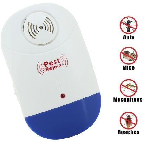 Anti Moustique Répulsifs blanc et bleu Répulsif ultrasonique électronique de contrôle de lutte antiparasitaire de rat de avec la