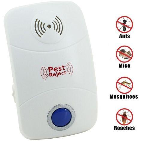 Anti Moustique Répulsifs blanc Répulsif de contrôle de lutte antiparasitaire ultrasonique électronique de rat de avec la lumière