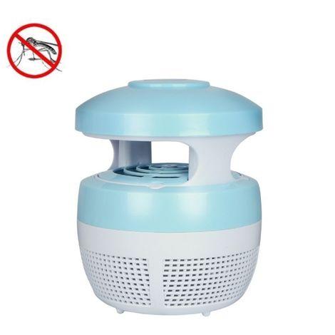 Anti Moustique Répulsifs bleu 5W 6 LED Aucune radiation Mute Photocatalytique 7-fan Fan USB Killer Lamp
