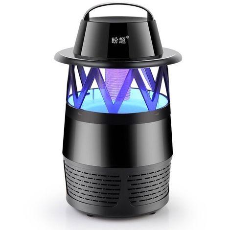 Anti Moustique Répulsifs noir 5W 6 LED alimenté par USB aucun rayonnement Photocatalyst 7-fan Fan Killer lampe