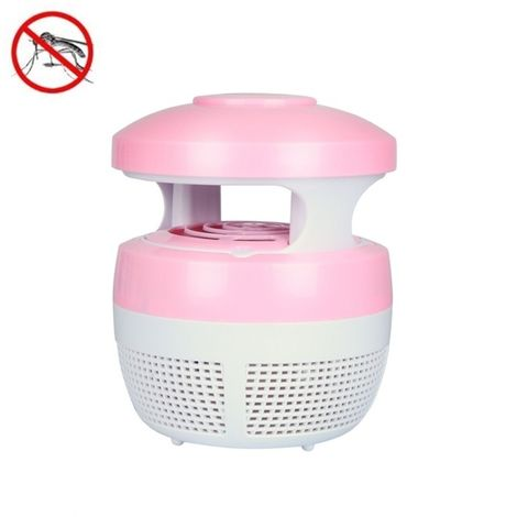 Anti Moustique Répulsifs rose 5W 6 LED Aucune radiation Mute photocatalytique 7-fan Fan USB Killer Lamp