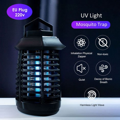 Anti-Moustique Tueur Electrique Lumiere Uv Led Smokeless Inodore Insecticide Lampe Mobile Portable