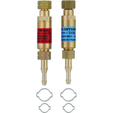 Anti retour détendeur O/A + 4 colliers serrage