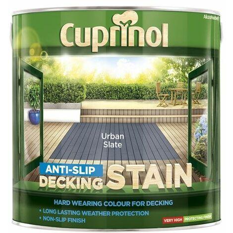 Anti-Slip Decking Stain Urban Slate 2.5 Litre CUPUTDSUS25L