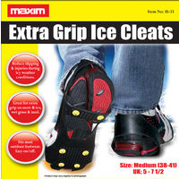 Anti Slip Shoe Grips Ice Cleats Spikes & Snow Gripper Maxim Size 5-7