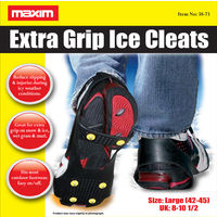 Anti Slip Shoe Grips Ice Cleats Spikes & Snow Gripper Maxim Size 8-10 Fast Post