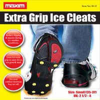 Anti Slip Shoe Grips Ice Cleats Spikes & Snow Gripper Size 2-4