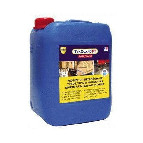 Anti tache textile- fort trafic - TexGuard FT -5L + pulvérisateur offert - Antitache siège, sol, tapis, store, tissu