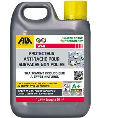 Anti-taches pour surfaces non polies à base d'eau FILA W68 - Le bidon de 1 Litre