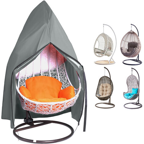 """main image of """"Anti UV Hanging Egg Swing Chair Cover Waterproof Outdoor Furniture Protector grey"""""""