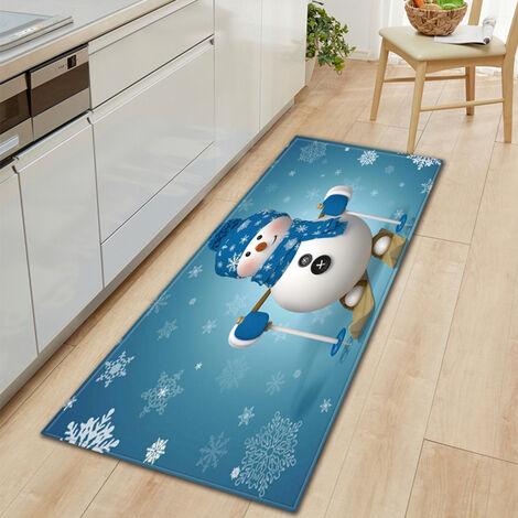 Antideslizante alfombra decoracion del hogar Salon Cocina Dormitorio Alfombra Puerta Sofa Bano Mat Felpudo Navidad, S, estilo 1