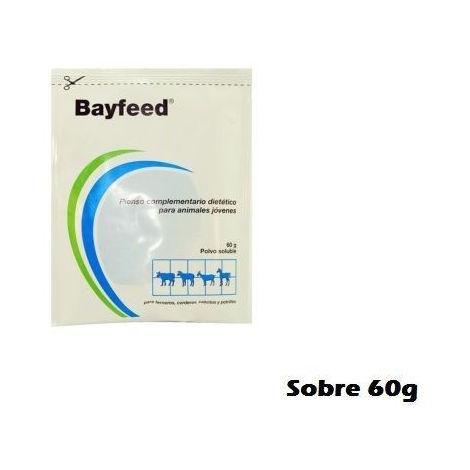 Antidiarreico BAYFEED 60g para terneros, corderos, cabritos y potros - 1 Sobre 60g