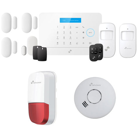 ANTIFURTO ALLARME WIFI CASA KIT COMBINATORE GSM Alexa e Google Assistant