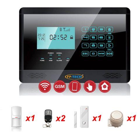 Antifurto Nero Allarme Touch Screen Casa Kit Combinatore Gsm Wireless Senza Fili App - S
