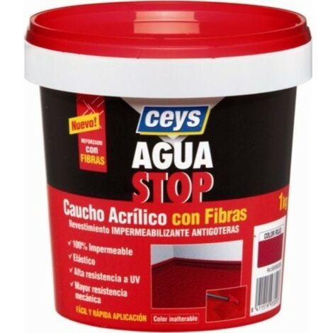 Pintura imperm. cau/acr 1 kg BLANCO fib antig aguastop el ceys