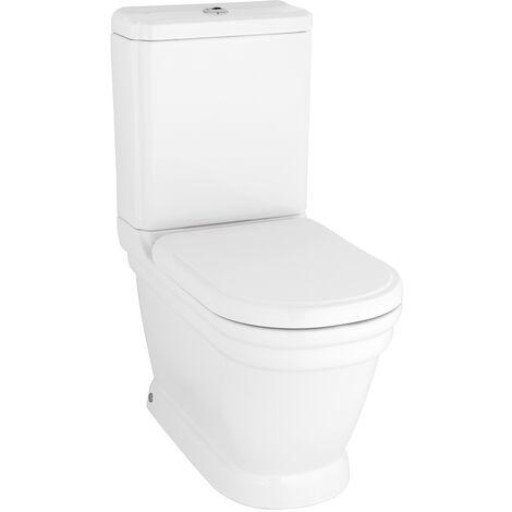 ANTIK Stand-WC, mit verdecktem Abgang, weiß