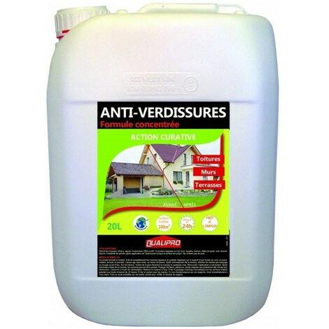 Antimousse anti-verdissures formule concentrée: toitures, murs et terrasses 20L 100m2