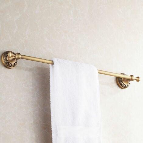 Antique Brass Bathroom Single Towel Bar 60cm Rail Hanger Wall Mounted Rack