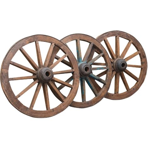 ANTIQUE CART WHEEL L117XPR36XH117 CM RESTORED