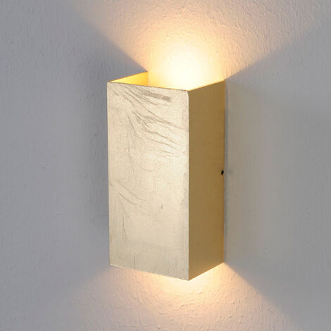 Antique-gold coloured Mira LED wall light