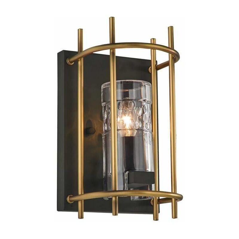 Image of Bistro 1 Light Bulb Antique Iron Wall Light