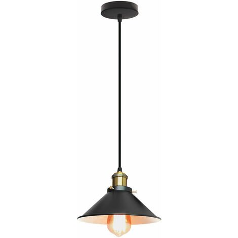 Antique Pendant Lamp Ø220mm Vintage Black Ceiling Light Retro Industrial Pendant Light E27 ,Creative Classic Hanging Light Classic Chandelier