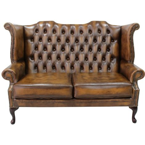 Antique Tan Chesterfield 2.5 Seater High Back chair | DesignerSofas4U