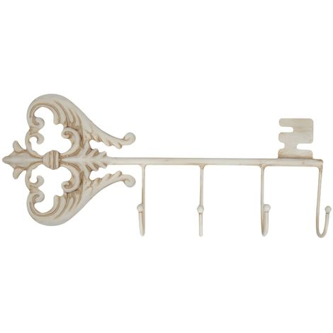 Antique White Key Wall Hook