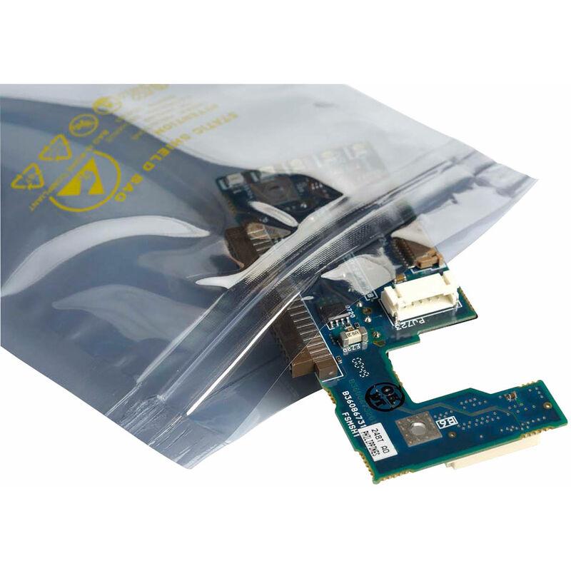 Image of 013-0020 Metal Shielding Ziplock Bags 6x8' 152 x 203mm - Pack Of 100 - Antistat
