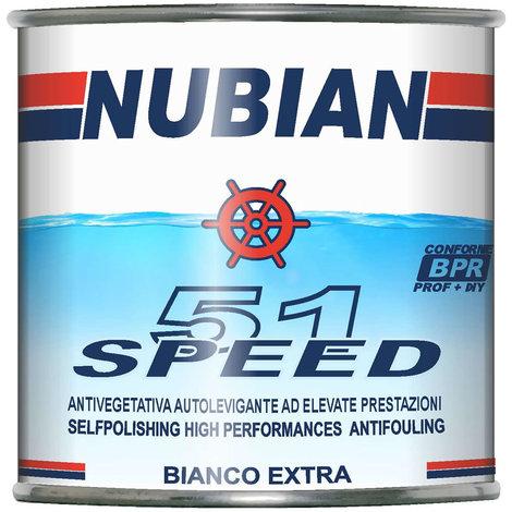 Antivegetativa speed 51 autolevigante bianca idrofila ml 750 nubian per barca