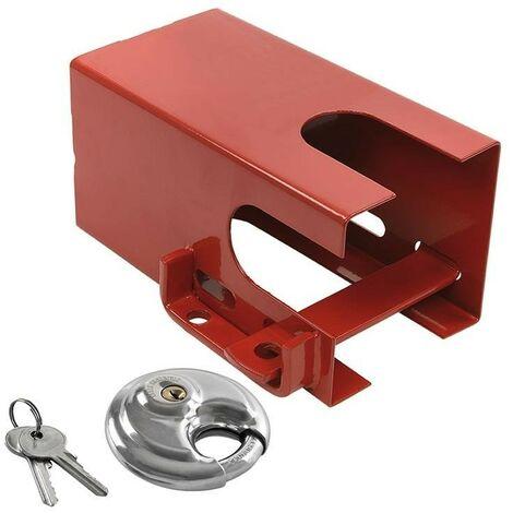 Antivol tête d'attelage 110x110mm avec cadenas à disque PM