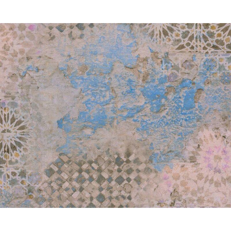 Image of Metropolitan Stories Tile Effect Industrial Vinyl Wallpaper - Antonio Barcelona