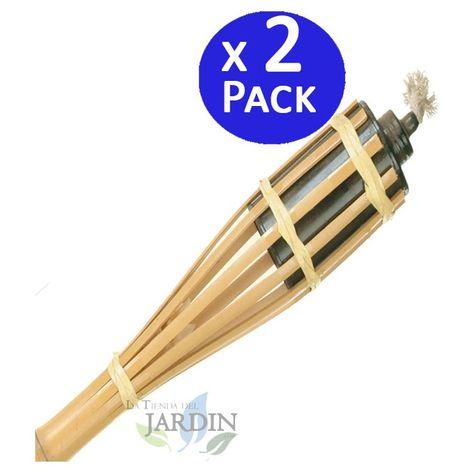 Antorcha de Bambú sin base 150 cm. 2 unidades