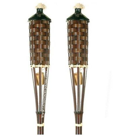 Antorcha de Bambú sin base 150 cm con tapa. 2 unidades